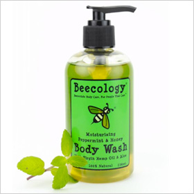Beecology's Honey and Peppermint Body Wash.