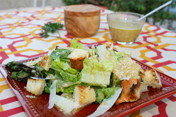 Grilled Caesar Salad with Dressing