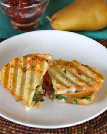 Meatless Monday: Pear and Gruyère panini with tart cherry preserves
