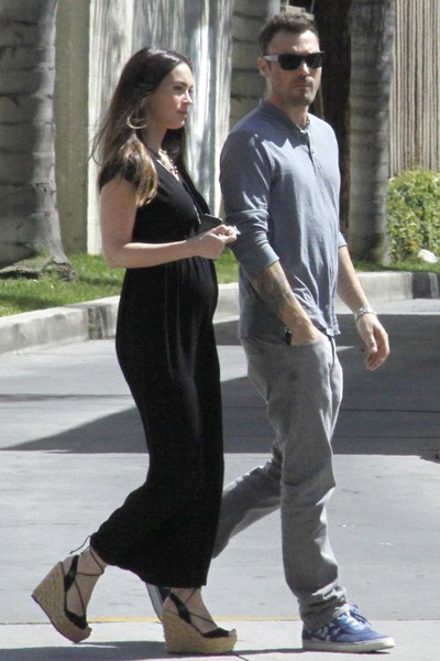 Pregnant Megan Fox and Brian Austin Green