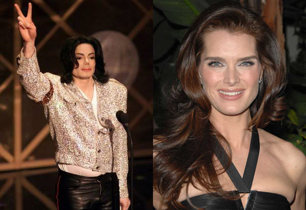Michael Jackosn and Brooke Shields