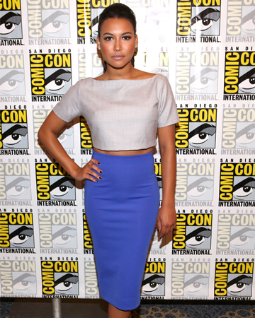Naya Rivera wearing a crop top