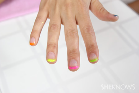 How to do a subtle neon nail design