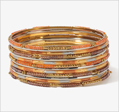 Ombré Beaded Bangle Set