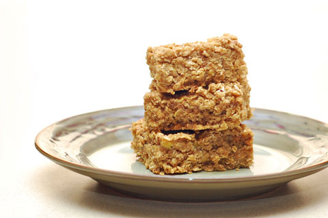 Banana peanut butter oatmeal bars