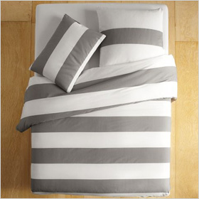 Bold bedding stripes