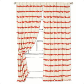 Bold curtain stripes