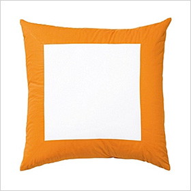 Cantaloupe Color Frame Euro Shams