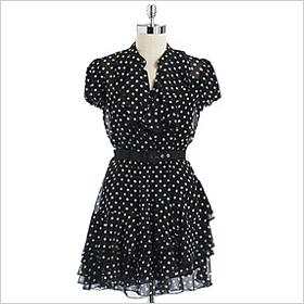 Cynthia Steffe polka dot silk chiffon dress