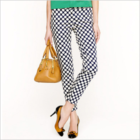polka dot pants from J. Crew