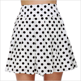 polka dot skirt from Lulus