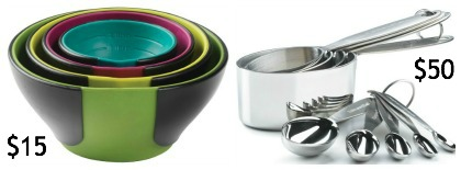 Chef'N Prep Bowls and Cuisipro measuring cups