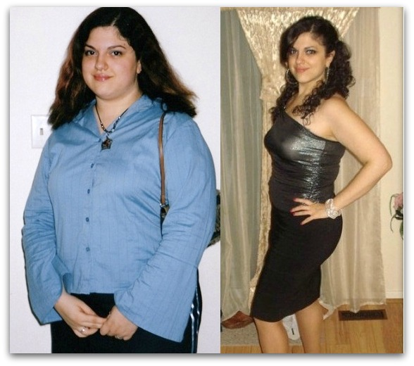 Rolla Bahsous before and after weight loss