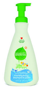 Seventh Generation shampoo foam