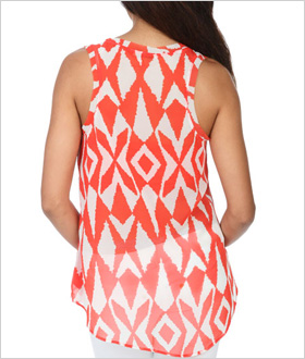 coral tribal tank from Arden B. ($39)