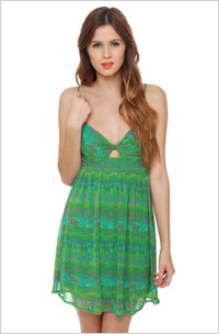 Our pick: O'Neill rainbow green print dress, $34, Lulus