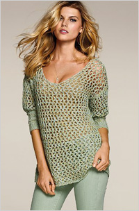 Our pick: Open-stitch sweater, $60, Victoria's Secret