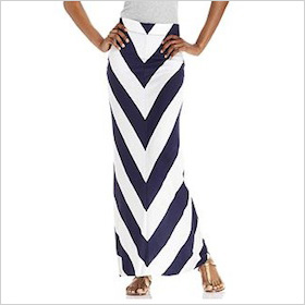 Chevron striped maxi
