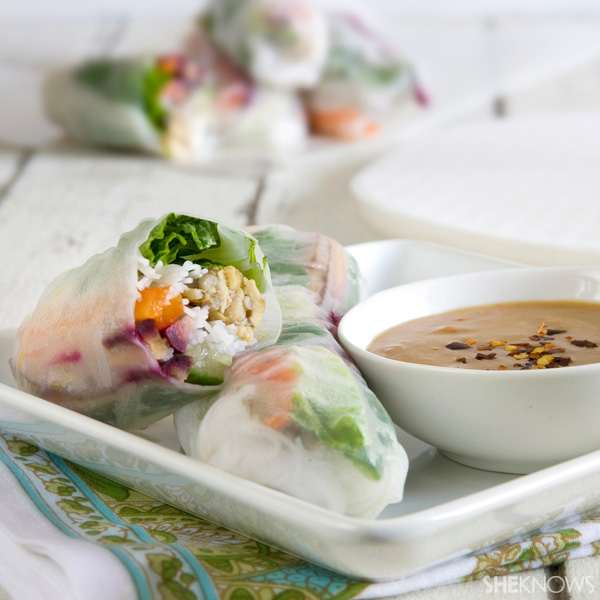 with spicy peanut sauce papaya spring rolls with peanut sauce recipes ...