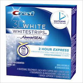 Try crest 3d 2 hour express whitestrips dental whitening kit 35 99