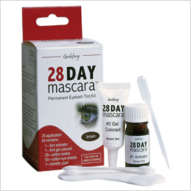 Try: Godefroy 28 Day Mascara Permanent Eyelash Tint Kit Mascara ($11.95)