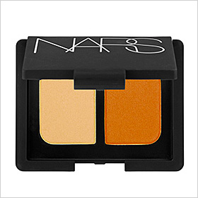 Try it: Nars Duo Eyeshadow in Mediteranee, a muted gold shimmer and burnt orange ($28).