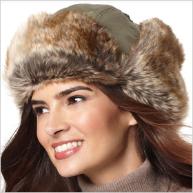 David & Young faux fur trapper hat