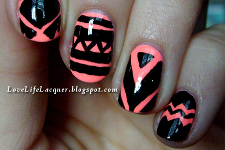 Love Life Lacquer: Aztec Nails