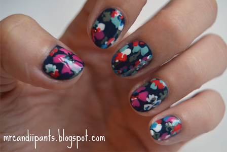 Mr. Candiipants: Floral Nails