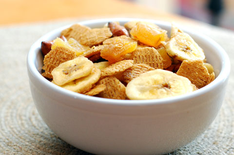 Tropical snack mix recipe