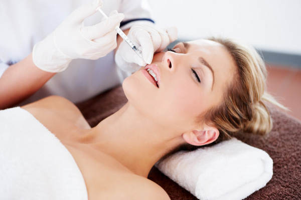 Woman getting injectable
