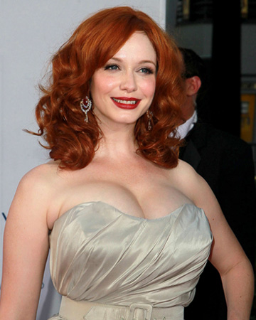Christina Hendricks at 2012 Emmy Awards