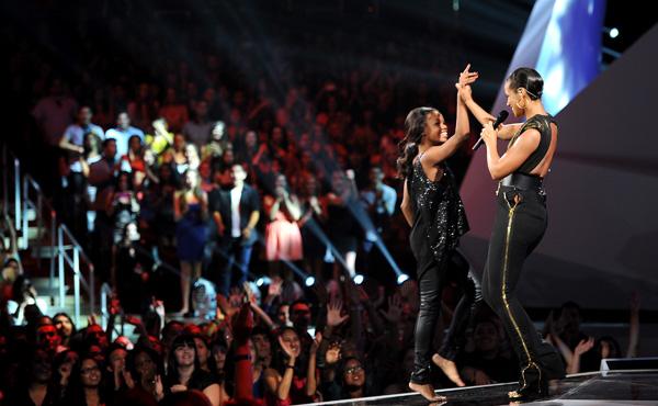Alicia Keys and Gabby Douglas