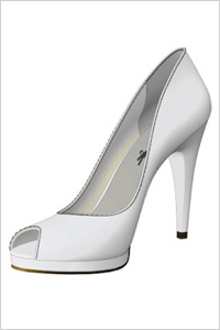 Shoes of Prey White Open-Toe Pumps