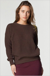 American Apparel Unisex Fisherman's Pullover Sweater