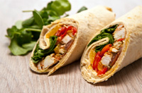 Provencal chicken wrap