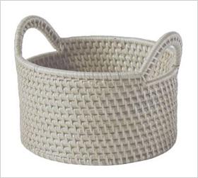 modern weave round baskets