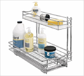 roll-out under sink organizer