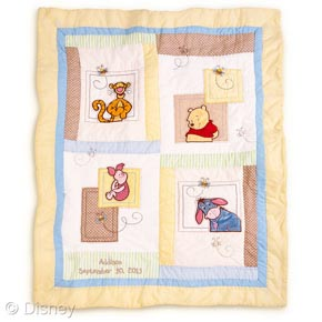 Disney Winnie the Pooh Heirloom quilt