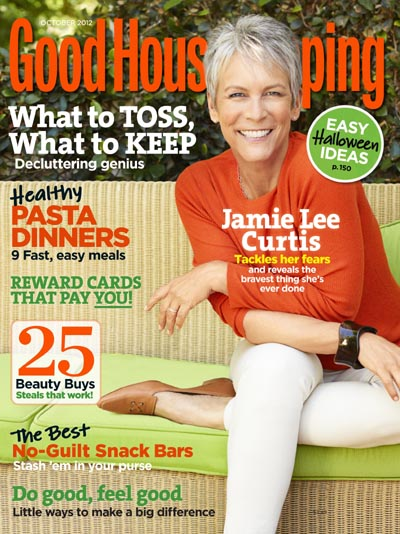 Jamie Lee Curtis Good Houskeeping October 2012