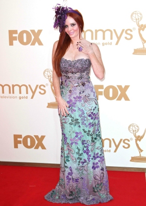 Phoebe Price at the 63rd Primetime Emmy Awards