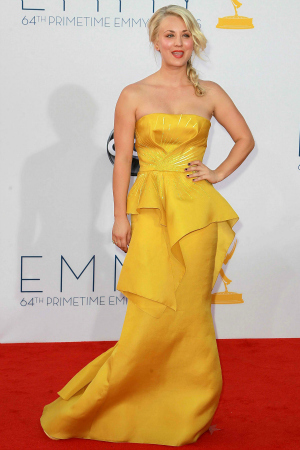 Actress Kaley Cuoco at the 64th Annual Primetime Emmy Awards