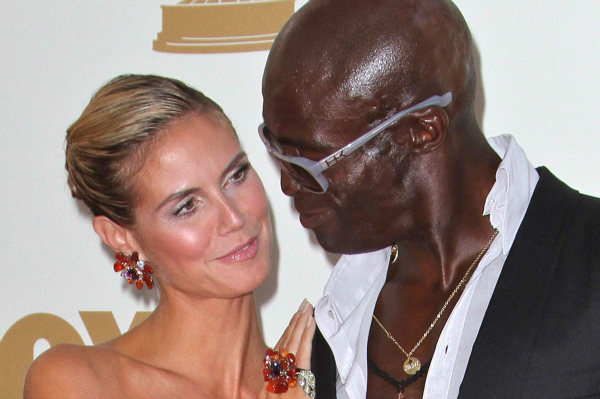 Heidi Klum and Seal Attend the Emmy Awards