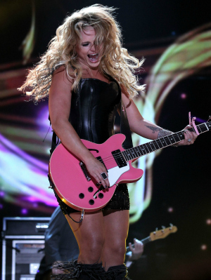 Miranda Lambert Performing at the CMT Country Music Awards Festival