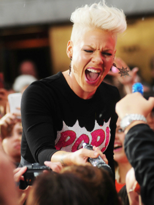 Pink Performing at Rockefeller Center in NYC
