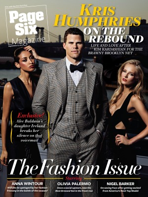 Kris Humphries ont he cover of Page Six
