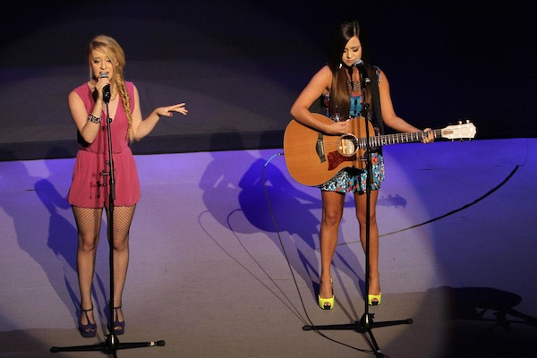 Megan and Liz perform