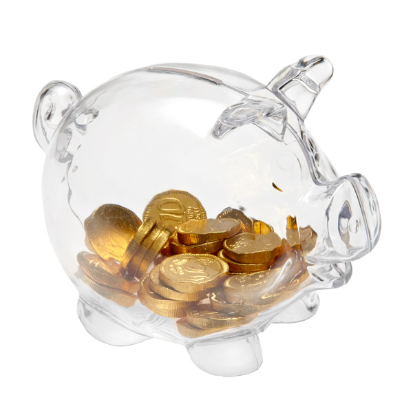 clear piggy bank