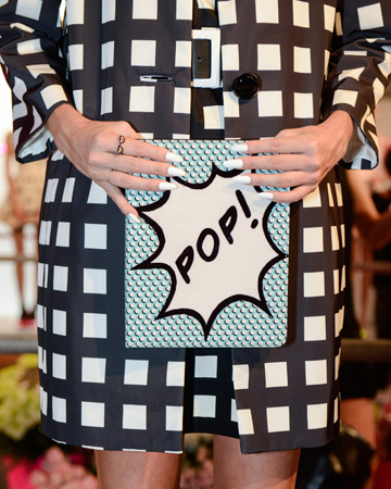 Nail art at Kate Spade's spring/summer 2013 presentation at NY Fashion Week