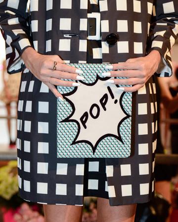 Nail art at Kate Spade's spring/summer 2013 presentation at NY Fashion Week
